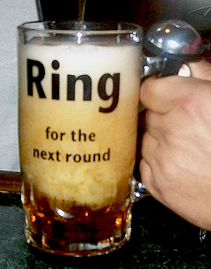 Fight Bell Beer Glass
