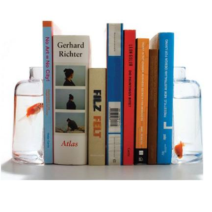 Fish Bowl Bookends (or Vase Bookends)