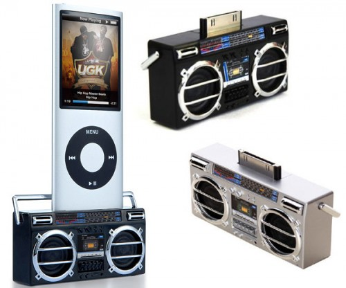 ipod mini boombox 500x416 Tiny Boombox is More of a GhettoWhisperer than a Ghettoblaster