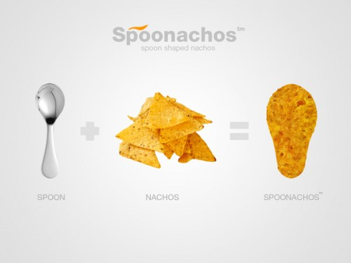 spoonachos 500x375 Spooonachos: Spoon Shaped Nachos