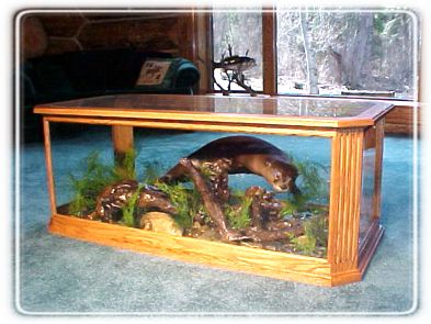 Wolf and Otter Habitat Coffee Tables