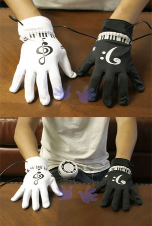 Electronic Piano Finger Musical Gloves