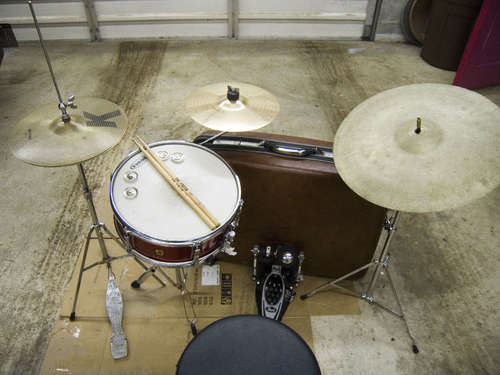 suitcase drum kit Pinboard