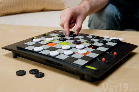 trapdoor checkers game 10 New Twists on Classic Board Games (Gift Guide)