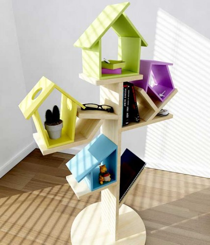 Birdhouse Shelving Stand
