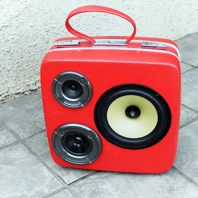 boomcase2 Boomcase: Vintage Suitcase Boomboxes