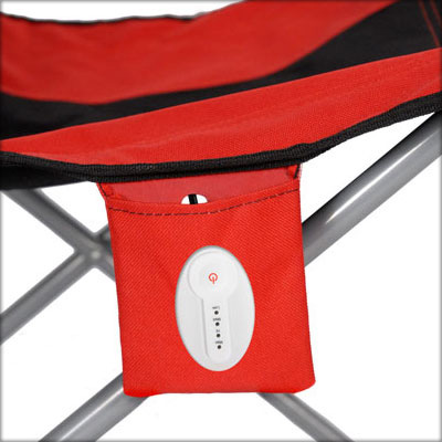 chaheati red battery closup2 Chaheati Heated Camping Chair