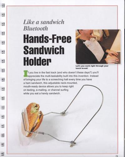 hands free sandwich Hands Free Sandwich Holder