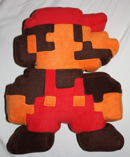 mario pixel cushion 416x500 7 Cool Nintendo Bedding Items