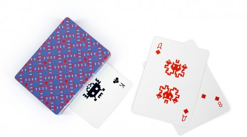 space invaders cards back 500x277 Space Invaders Playing Cards by Art Lebedev