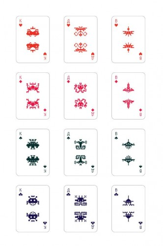 space invaders process 1 332x500 Space Invaders Playing Cards by Art Lebedev