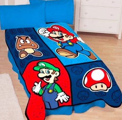 super mario bedding 7 Cool Nintendo Bedding Items