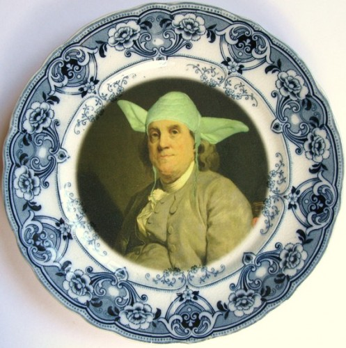 Yodamin Franklin Antique Plate