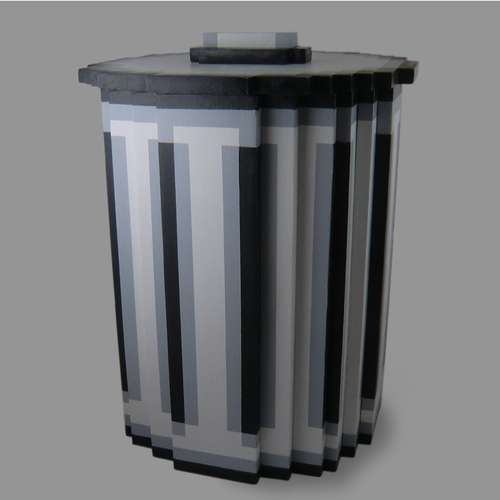 8 Bit Pixel Trash Can