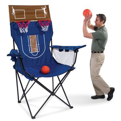 Giant Camping Chair with Basketball Hoops