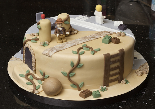 Lego Indiana Jones and Star Wars Cake