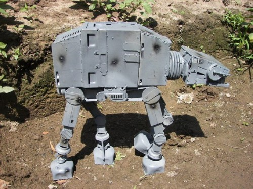 AT-AT Walker Made from Recycled Computer Parts