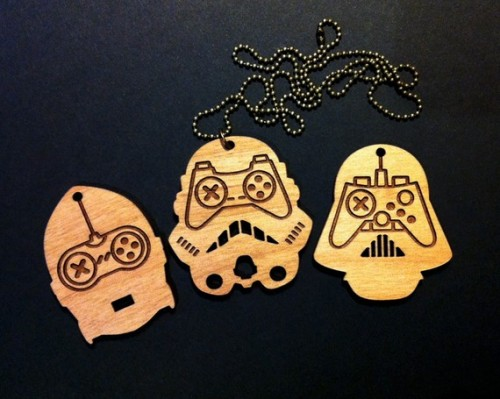 Star Wars Old School Game Controllers Pendant