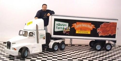 tractor trailer gokart 500x253 Tractor Trailer Go Karts and Chuck Norris