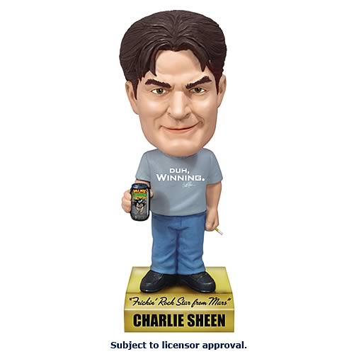 Duh, Winning- Charlie Sheen Talking Bobble Head