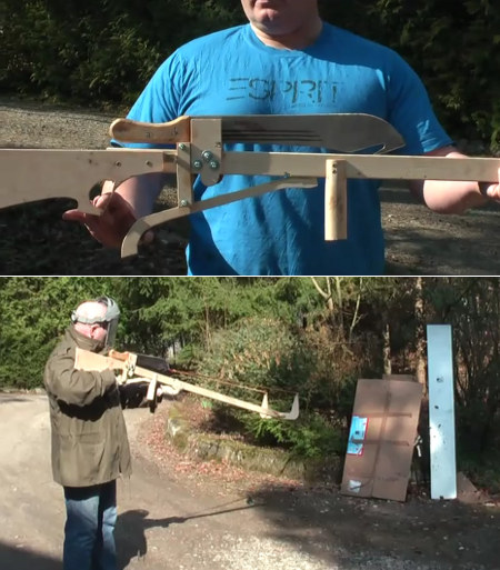 Machete Shooting Crossbow Slingshot