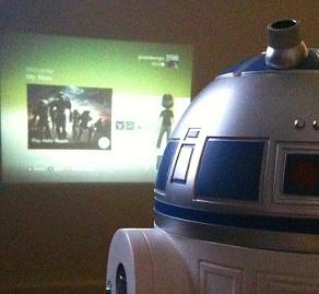 r2d2 xbox projector R2D2 Modded into an X Box 360 Projector