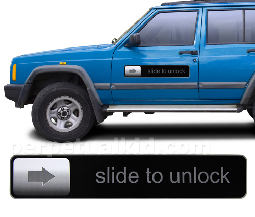 slide to unlock magnet Pinboard