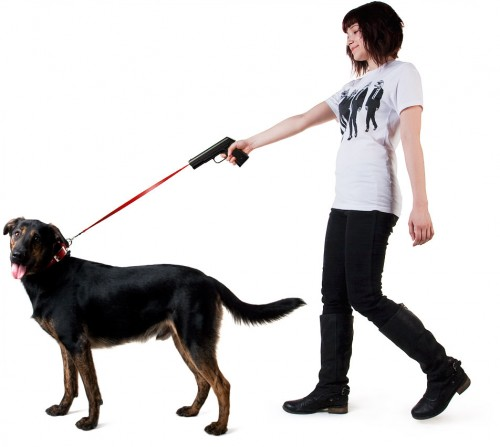 Art Lebedev's Gun Handle Leash Only Looks Like Animal Cruelty