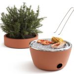 Hot Pot BBQ is a Planter and a Charcoal Grill