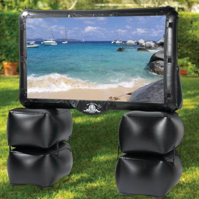inflatable tv Outdoor Inflatable Home Theater Turns Your Yard Into a Movie Theater