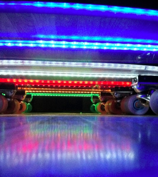 light up skateboards bottom Light up LED Skateboards