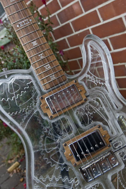 Incredible Homemade See-Through Steampunk Guitar