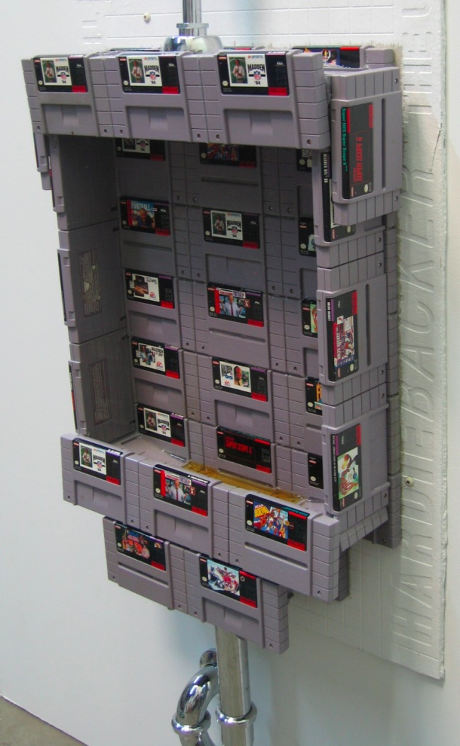 Working Urinal Made of SNES Video Game Cartridges -Craziest