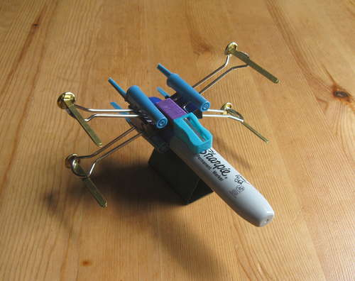 Build an X-Wing Fighter from Desk Supplies
