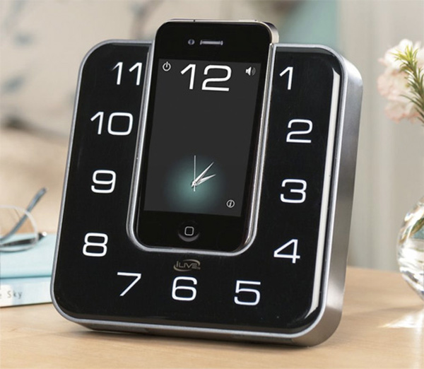 iPhone Becomes Part of the Clock with iLive's Clock Radio Dock