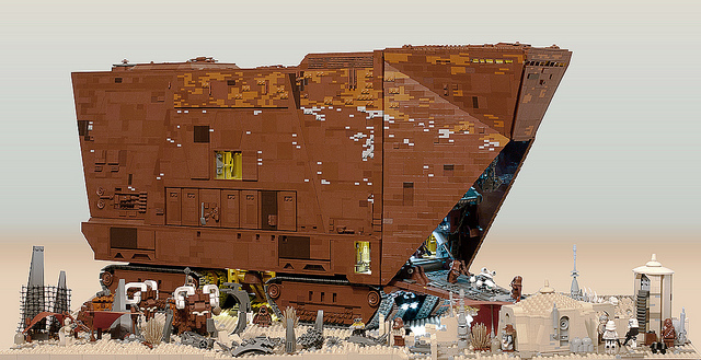 3 Foot Long, 10,000 Piece Lego Sandcrawler from Star Wars