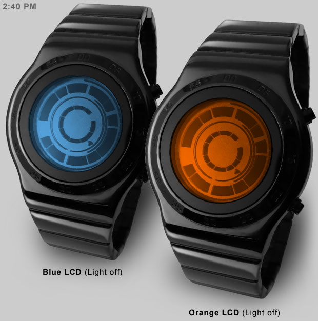 rogue sr2 blue orange lcd New Tokyoflash Watch: Kisai Rogue SR2