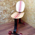 Skateboard Chair Rolls On