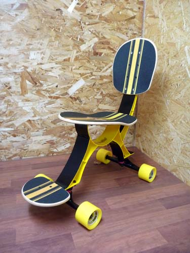 rolling skateboard chair3 Skateboard Chair Rolls On