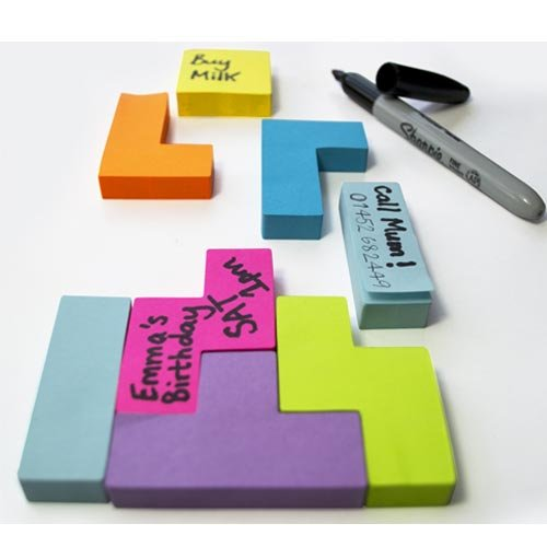 Tetris Shaped Post-Its