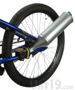 TurboSpoke Bicycle Exhaust System makes your bike sound like a motorcycle
