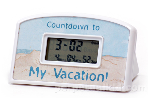 Vacation Countdown Timer Clocks