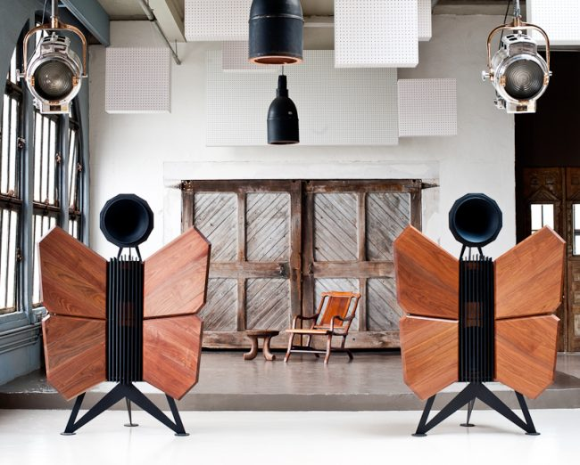 OMA Monarch Butterfly Shaped Speakers
