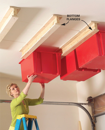 diy garage ceiling storage DIY Garage Ceiling Storage
