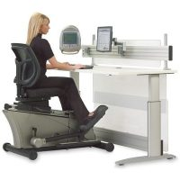 Workout While You Work with the Elliptical Machine Office Desk