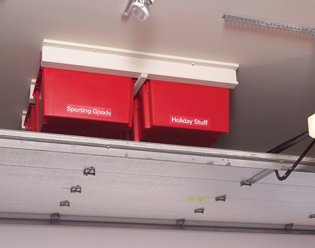 garage ceiling storage DIY Garage Ceiling Storage