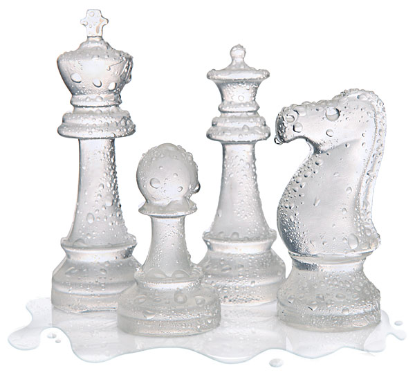 ice speed chess set Ice Chess Set Makes for One Cool Game