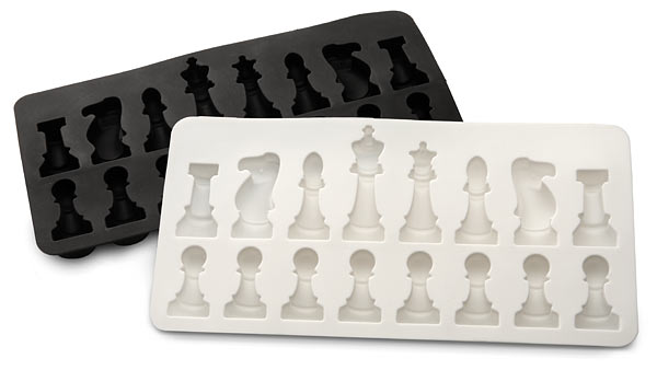 ice speed chess set trays Ice Chess Set Makes for One Cool Game