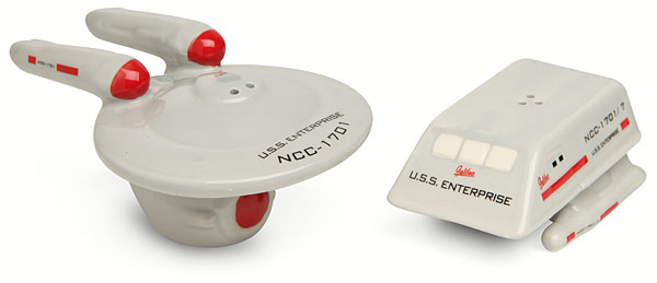 Star Trek Salt and Pepper Shakers
