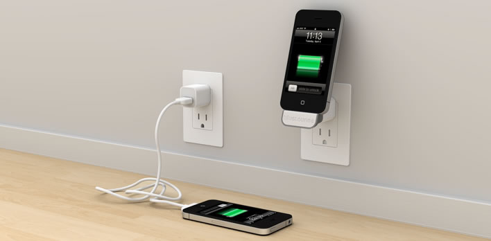 Bluelounge minidock is an ipod charging shelf craziest for Chargeur mural iphone
